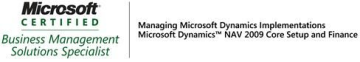 Microsoft Certified  Business Management Solutions Specialist - NAV 2009 Core Setup & Finance